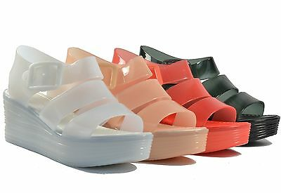 New Summer Style Comfortable Women Jelly Sandals Slingbacks Wedge Heels Shoes
