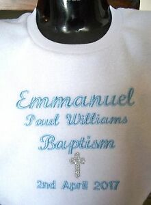 Personalised-Baby-Bib-Christening-Baptism-Name-Day-Any-name-Embroidered-Gift