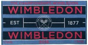 Wimbledon 2018 on court femmes tennis serviette de Christy UK 132 ans Wimbledon  </span>