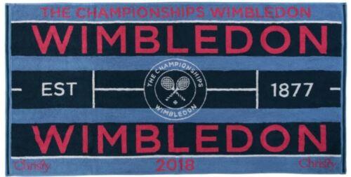Autogramme & Autographen Wimbledon 2018 on Court Damen Tennis Handtuch von Christy Uk 132 Jahre Wimbledon Tennis