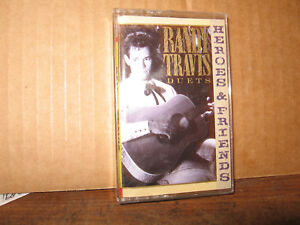 RANDY-TRAVIS-CASSETTE-TAPE-DUETS-HEROES-AND-FRIENDS-DOLLY-PARTON-WILLIE-NELSON