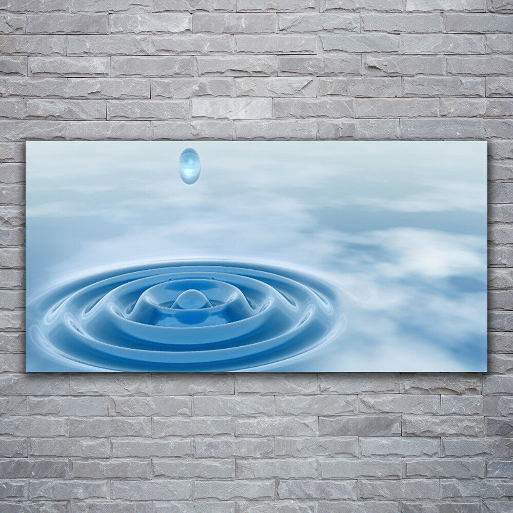 Canvas print Wall art on 120x60 Image Picture Water Art