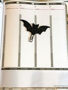 Image Is Loading Bat Planner Clip Paper Supplies