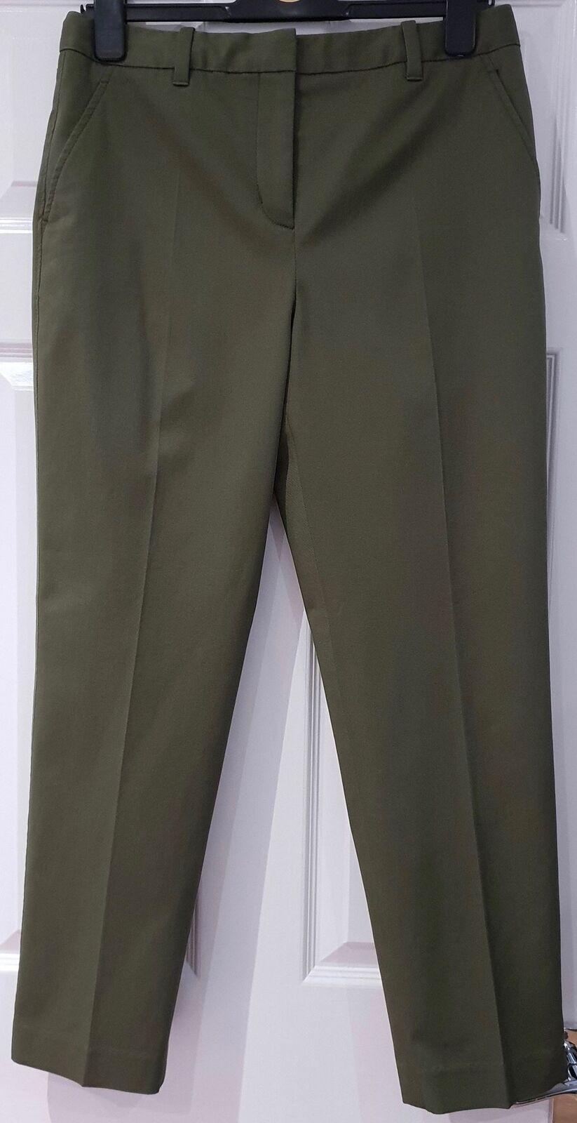 3.1 Phillip Lim Caqui  verde Mezcla de Algodón cultivo Capri Pantalones Pantalones cónicos 48  más orden