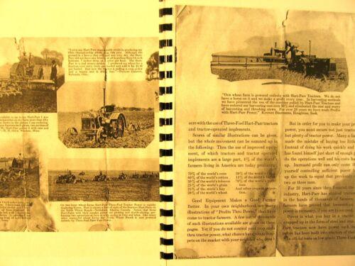 Hart-Parr Sales Manual Photos Testamonials,Specs Facts 13 Pages