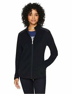 Starter-Women-039-s-Polar-Fleece-Jacket-Exclusive-Black-Black-Size-Small