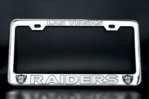 Custom Made of Chrome Plated Metal LAS VEGAS RAIDERS License Plate Frame