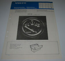 Einbauanleitung Volvo 360 / 340 hatchback sedan Öltemperaturmesser Mai 1983!