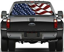 USA American Flag Rear Window Graphic Decal for Truck SUV Vans Minivan Version 3