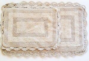Laura Ashley Cotton Crochet Lace Beige