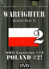 Dan Verssen Games DVG Warfighter WWII Expansion #12 Poland #2 Card Deck - New