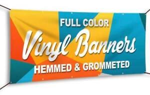 2/' x 4/' Full Color Custom Banner 13oz Vinyl Same Day Shipping