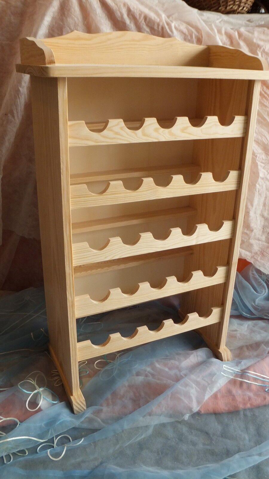 Mueble BOTELLERO de madera maciza, 90 cms. alto