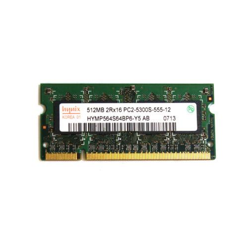 Hynix 512MB PC2-5300S Memory Module HYMP564S64BP6-Y5 204 Pin