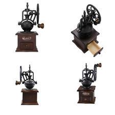 Vintage Manual Coffee Bean Hand Grinder Grinding Machine Wooden Retro Burr Mill