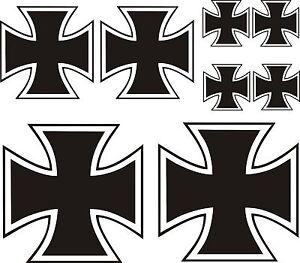 Details Zu 8 X Eisernes Kreuz Aufkleber Sticker Iron Cross Kreutz Auto Tuning Kult 41