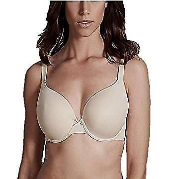 NEW BEAUFORME T-SHIRT BRA Full Cup Coverage 32A-40E Black White Or Nude Colours