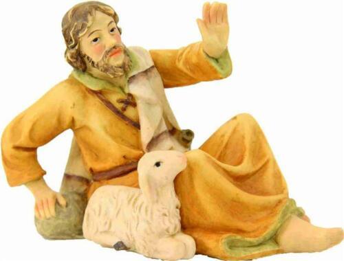 Mathias crèches personnage berger couché avec mouton pour personnages Taille ca 7 cm