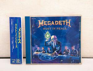 MEGADETH-Rust-In-Peace-1990-1st-Press-Japan-CD-TOCP-6252-w-Obi
