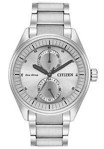 Citizen Eco-Drive Men's Paradex Silver-Tone Bracelet 43mm Watch BU3010-51H
