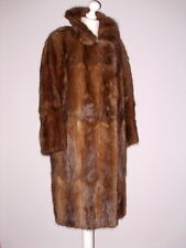 TRUE VINTAGE Pelz-Mantel real Bisam mink full length coat fur braun 42-44 TOP!