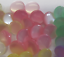 6 Pearlescent Pearl round buttons 10mm  Assorted Colours shank Baby Knits