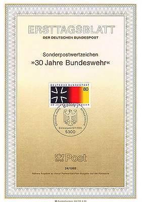 Erfinderisch Brd 1985: Bundeswehr 30 Jahre! Ersttagsblatt Nr. 1266 Mit Bonner Stempel! 1906 Reich An Poetischer Und Bildlicher Pracht