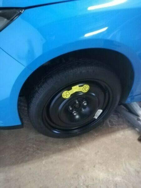 Ford Focus RS 18 inch Original Space Saver Spare Wheel kit with Tools and Cover R7500