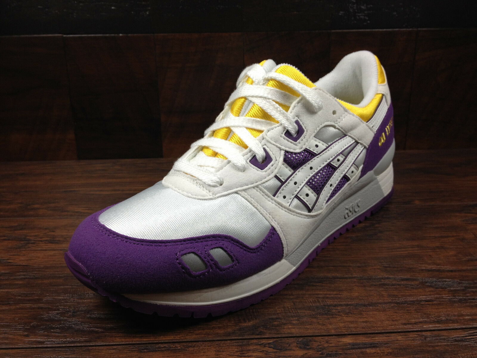 Asics Gel-Lyte 3 III Lakers (Blanco/Púrpura/Amarillo) [T305N-0101] Lakers III Correr Hombres 677d1f