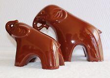 JARU 1960's - 70's Mid Century Modern California Pottery Elephant Figurine Pair