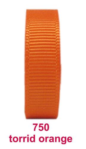 """25y 50y 9mm 3//8/"""" Peach Orange Sherry Premium Grosgrain Ribbon Craft Eco"""
