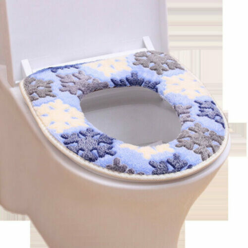 1//2X Plüsch Toilettensitzabdeckung Sitzbezug Wärmer WC Pad Deckel Toilettensitz