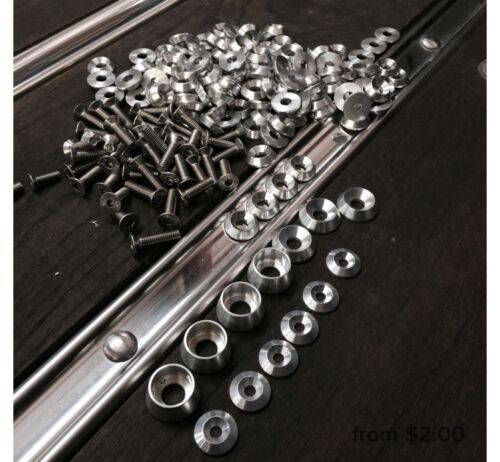 LICENSE PLATE SCREWS FRAME SECURITY Bolts STAINLESS AUTO M6 INFINITY Stainless