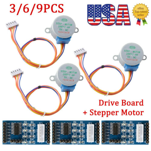 3//6//9 DC5V Stepper Motor 28BYJ-48 ULN2003 Driver Test Module Board fit Arduino