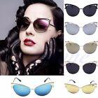 Women's Gold Retro Cat Eye Sunglasses Classic Designer Vintage Fashion Shades
