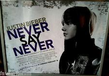 Cinema Poster: JUSTIN BIEBER NEVER SAY NEVER 2011 (Advance Quad) Miley Cyrus