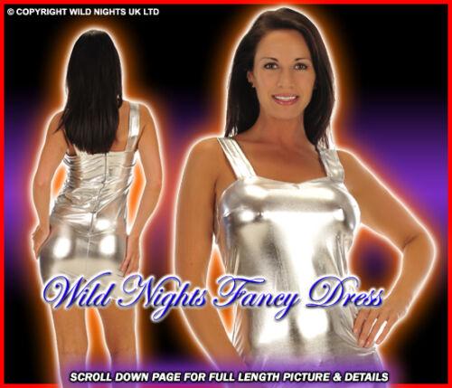 70/'S//80/'S DISCO FEVER SILVER SM 8-10 FANCY DRESS