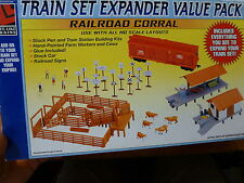 Life Like HO #433-1743 Expander Set -- Railroad Corral (Kit Form)