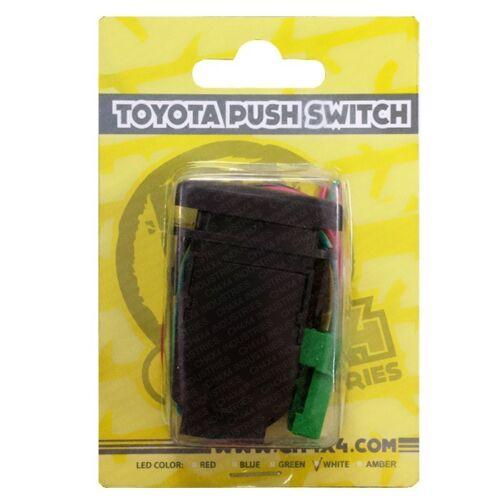 CH4x4 Toyota Push Switch FJ Cruiser Front Roof Light Bar Symbol Amber LED