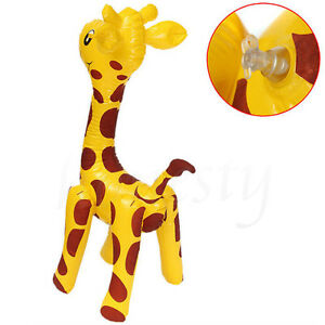 Image Is Loading Large Inflatable Giraffe Zoo Animal Blow Up Kids