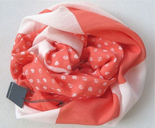 Marc O/' Polo XXL Schal Tuch orange//weiß  NEU
