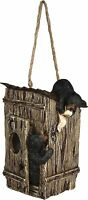River's Edge Black Bears On Outhouse Birdhouse Bird Feeder Sale