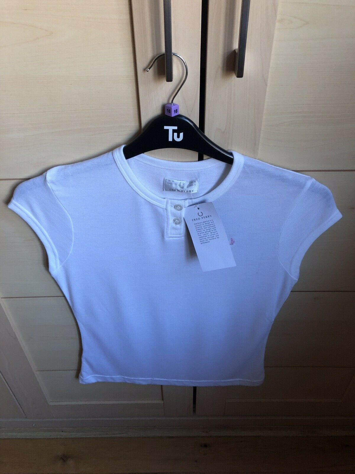 Fred Perry donna Manica ad Aletta bianca Top Top Top bcabb0