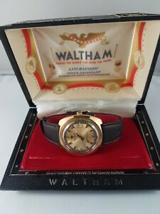 Waltham vintage  men's wrist watch , original box , working , extremely rare!