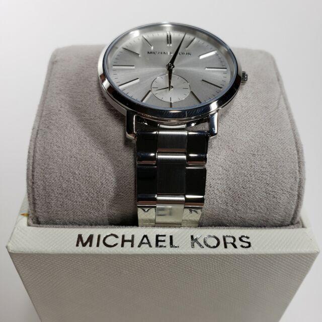 Neuf avec étiquettes Michael Kors MK3499 jaryn Ton Argent Cadran Femmes Montre fabricants Standard prix de détail $250 nouveau