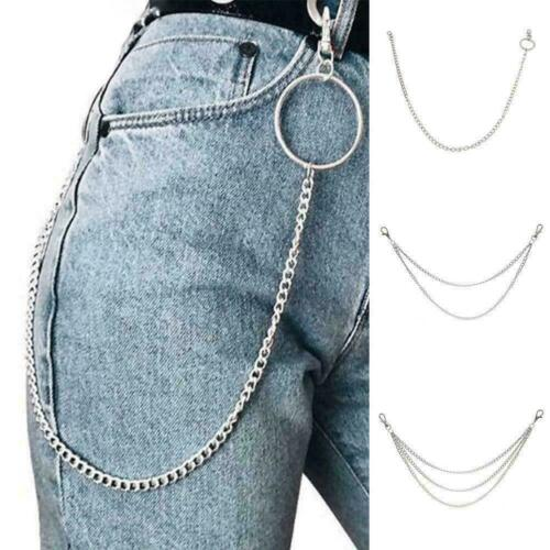 Metal Wallet Belt Chain Rock Punk Trousers Hipster Pant Hip hop Jean Keycha B6G1