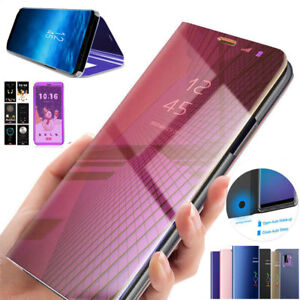 Custodia iPhone XR Specchio Portafoglio Libro Trasparente Cover