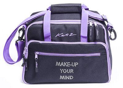 Girls Ladies Large Black Dance Ballet Tap Make Up Holdall Cosmetic Bag KB72 Katz