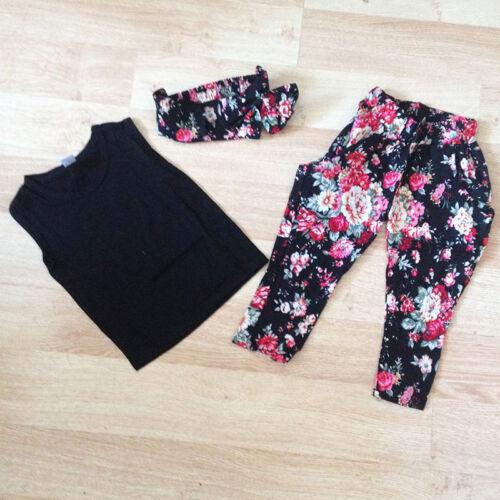 Hose Rock Kleid 2tlg Kinder Mädchen Sommer Outfits Set T-Shirt Tops Oberteile