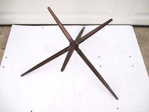 Vintage-Large-Solid-Brass-Finial-Weathervane-Lightning-Rod-Star-6-Prong-Jack